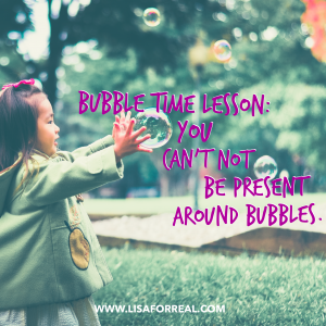 bubble time lesson
