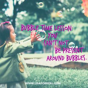 bubble time lesson